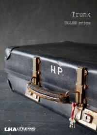 ENGLAND antique REVELATION Trunk イギリスアンティーク トランク・スーツケース 鍵付き バッグ ブラック 黒 ヴィンテージ  1950's