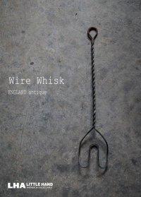 ENGLAND antique Wire Whisk イギリスアンティーク ワイヤーウィスク 泡だて器 ヴィンテージ 1930-40's