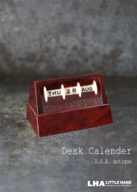 U.S.A. antique Desk Calender アメリカアンティーク 万年 ベークライト デスクカレンダー ヴィンテージ1950-60's 卓上 メカニカル カレンダー 暦