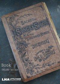 ENGLAND antique BOOK イギリス アンティーク 本 楽譜 譜面 古書 洋書 ブック 1880-1930's